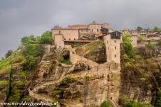 Monasteries of Meteora - Meteora: The Megalo Meteoro Monastery was built upon the highest rock in the Meteora area. Megalo Meteoro is the largest and oldest...