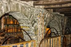 Monasteries of Meteora - Meteora Monasteries: The storerooms of the Megalo Meteoro Monastery are filled with bottles wrapped in wicker baskets. Meteora is a mixed...