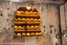 Monasteries of Meteora - The ossuary inside the Megalo Meteoro Monastery in the Meteora area. The ossuary houses the bones of deceased monks. A deceased...