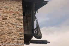 Monasteries of Meteora - Meteora: The tower and basket of the Megalo Meteoro Monastery, monks lift supplies up to the monastery. In the 16th century, there were 24...