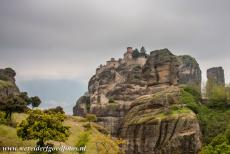 Monasteries of Meteora - The Holy Varlaam Monastery is situated high upon a rock in Meteora, the monastery was built in 1541-1542 and decorated in 1548-1566. The...
