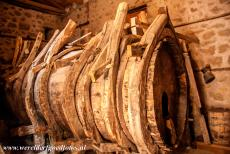 Monasteries of Meteora - The Varlaam Monastery in Meteora, this huge wooden barrel can hold 12 tons of rainwater. The early monasteries in Meteora were only...