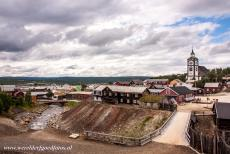 Røros Mining Town - Røros Mining Town and the Circumference: The town of Røros and the church of Røros viewed from the Slegghaugan. The...