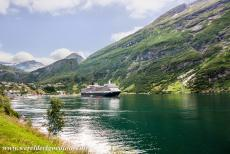 Geirangerfjord and Nærøyfjord - West Norwegian Fjords - Geirangerfjord and Nærøyfjord: The imposing Geirangerfjord, a 15 km long side arm of the Sunnylvsfjorden,...