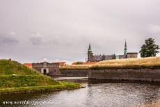 Kronborg Castle - The Dark Gate of Kronborg Castle and the deep moat. Around 1425, Krogen Castle was built on a stratecic point along the Øresund....