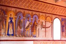 Jelling Mounds, Runic Stones and Church - Jelling Mounds, Runic Stones and Church: The frescoes in the Jelling Church. The chancel held Denmark's first frescoes, clearly inspired...