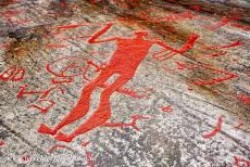 Rock Carvings in Tanum - Rock Carvings in Tanum: The Spear God of Litseby is 2.30 metres high and largest Bronze Age human representation in Europe. Who he really was...