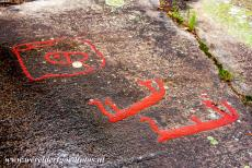 Rock Carvings in Tanum - Rock Carvings in Tanum: A detail of a rock at Fossum, the rock carvings depict manned boats. The rock art sites in Tanum are located in the north...