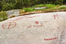 Rock Carvings in Tanum - Rock Carvings in Tanum: A rock carving of a large sun wheel into the rock at Aspeberget. The largest concentration of rock carvings in...