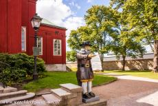 Naval Port of Karlskrona - Naval Port of Karlskrona: The wooden statue of Gubben Rosenbom, known from the book The wonderful Adventures of Nils Holgersson, by the...