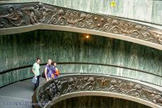 Vatican City - Vatican City: Vatican Museums with the famous spiral staircase designed by Giuseppe Momo in 1932. The staircase is made of two intertwined...