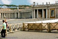 Vatican City - Vatican City: The St. Peter's Square is located in front of the St. Peter's Basilica. The basilica  is a famous work...