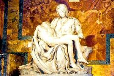 Vatican City - Vatican City: St. Peter's Basilica houses the Pietà, sculpted by Michelangelo Buonarroti in 1499. Michelangelo carved it from a...