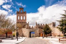 Old Town of Ávila - Old Town of Ávila with its Extra-Muros Churches: The Puerta del Carmen, the Carmen Gate, and its tower. The south side is the...