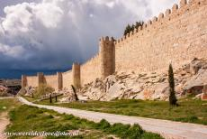 Old Town of Ávila - Even today, the medieval fortified town walls still completely surround of the Old Town of Ávila. The construction of the town walls...