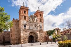 Historic City of Toledo - Historic City of Toledo: The Puerta del Cambrón, the Cambrón City Gate or Gate of the Jews. The city gate is adorned with the...