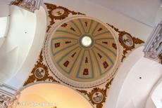 Old Town of Cáceres - Old Town of Cáceres: The decorated dome of the San Francisco Javier Church. The Jesuit church has a single nave and several small side...