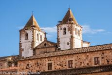 Old Town of Cáceres - Old town of Cáceres: The 18th century San Francisco Javier Church towers high above Cáceres, the church has a Baroque...