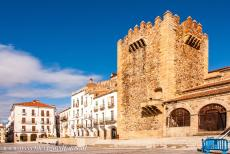 Old Town of Cáceres - Old Town of Cáceres: The Bujaco Tower is the most important tower of the town and one of the symbols of the Old Town of...