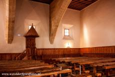Old City of Salamanca - Old City of Salamanca: The lecture hall of Fray Luis de León in the University of Salamanca. In the middle of a lecture, Luis de...