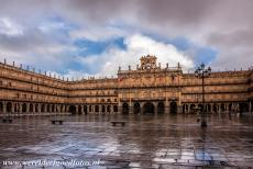 Old City of Salamanca - Old City of Salamanca: The City Hall on the Plaza Mayor, the main square in Salamanca. The City Hall was built in the Baroque style, it...