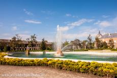 Aranjuez Cultural Landscape -  Aranjuez Cultural Landscape: The Ceres Fountain in front of the Royal Palace of Aranjuez. The palace became the spring residence of the...
