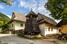 Vlkolínec - The wooden bell tower of Vlkolínec was erected in 1770 and is one of the oldest buildings in the village. The bell tower has a...