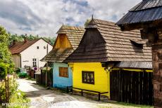 Vlkolínec - Vlkolínec is a mountain village under the administration of Ružomberok, a town in Slovakia. The wooden houses are painted in...