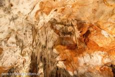 Caves of the Slovak Karst - Domica Cave - The caves of Aggtelek Karst and Slovak Karst: The coloured dripstone formations of the Domica Cave in the Slovak Karst. The Domica Cave was...