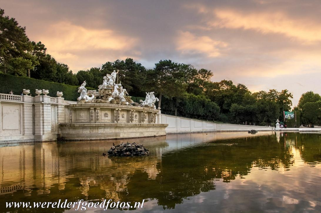 Palace and Gardens of Schönbrunn - Palace and Gardens of Schönbrunn: The Neptune Fountain was designed as the crowning glory of the Great Parterre, the garden between...