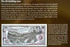 Semmering Railway - Semmering Railway: The 20-Schilling Blick is the viewpoint from where you can see the same view as it was depicted on the former 20-shilling...