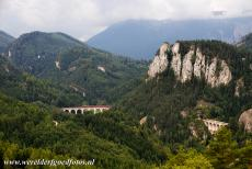 Semmering Railway - The 20-Schilling view, the heart of the Semmering Railway, consists of the Kalte Rinne Viaduct, the Polleros Tunnel, the Krausel Klause...