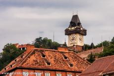 City of Graz - Historic Centre - City of Graz - Historic Centre: The 13th century Clock Tower on the 123 metres high Schlossberg is towering high above the historic city of Graz....