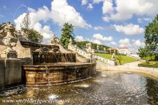 Historic Centre of Český Krumlov - Historic Centre of Český Krumlov: The cascade fountain in the gardens of Český Krumlov Castle. The fountain is situated between...