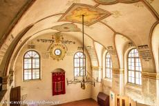 Jewish Quarter and St Procopius Basilica, Třebíč - Jewish Quarter and St. Procopius' Basilica in Třebíč: The Rear Synagogue was built around 1669. The paintings on the walls depict...