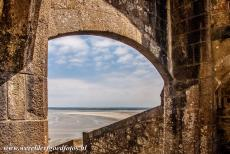 Mont Saint-Michel - Mont Saint-Michel and its Bay: La Manche, the English Channel, viewed from the Grande Degré, the Grand Staircase leading to the...