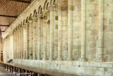 Mont Saint-Michel - Mont Saint-Michel and its Bay: The refectory of the Abbey of Mont Saint-Michel is flooded with daylight, the windows of the refectory are...