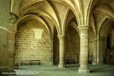 Mont Saint-Michel - Mont Saint-Michel and its Bay: The Salle des Chevaliers is the Room of the Knights and was the scriptorium of the abbey. About...