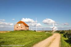 Danish part of the Wadden Sea - The Danish Wadden Sea: The Ballum Enge watering mills and mill house near Bredebro. In the period 1842-1965, the mills in the Ballum Enge were...