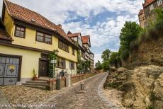 Old Town of Quedlinburg - Collegiate Church, Castle and Old Town of Quedlinburg: The path up the Burgberg, the Castle Hill. Quedlinburg became the first capital of Germany...