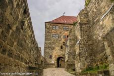 Old Town of Quedlinburg - Collegiate Church, Castle and Old Town of Quedlinburg: The massive entrance gate to the Castle of Quedlinburg, situated on top...