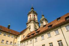 Abbey of Saint Gall - Abbey of Saint Gall: The towers of the abbey seen from the courtyard of the Bishop's Palace, the palace is still occupied by the...