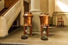 Abbey of Saint Gall - Abbey of Saint Gall: Two huge copper holy water fonts in the Cathedral of Saint Gall. The abbey is situated in the historic centre of Sankt...