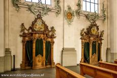 Abbey of Saint Gall - Abbey of Saint Gall: The carved walnut-wood confessional chairs in the cathedral. The Abbey Library of Saint Gall is one of the most important...