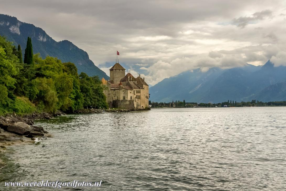 Lavaux, Vineyard Terraces - Lavaux Vineyard Terraces: Château de Chillon in Montreux on the banks of Lake Geneva. The Lavaex covers the territory from...