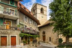 Lavaux, Vineyard Terraces - Lavaux Vineyard Terraces: The Church of Saint Saphorin was built in 1530. The village of Saint Saphorin is surrounded by the vineyards of Lavaux,...