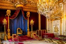 Palace and Park of Fontainebleau - The Palace and Park of Fontainebleau: The throne room. The throne of Napoleon I is placed on a dais. The throne room is still...