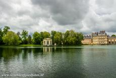 Palace and Park of Fontainebleau - The Palace and Park of Fontainebleau: The Carp Lake and the 17th century octagonal pavilion. The Palace of Fontainebleau is a former royal...