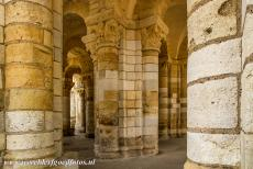 Loire Valley - Loire Valley between Sully-sur-Loire en Chalonnes: The main entrance of the Fleury Abbey. The columned entrance with its sculpted capitals is...