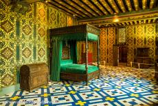 Loire Valley - Loire Valley between Sully-sur-Loire en Chalonnes: The Queen's Chamber in the Royal Château of Blois. Catherine de' Medici...
